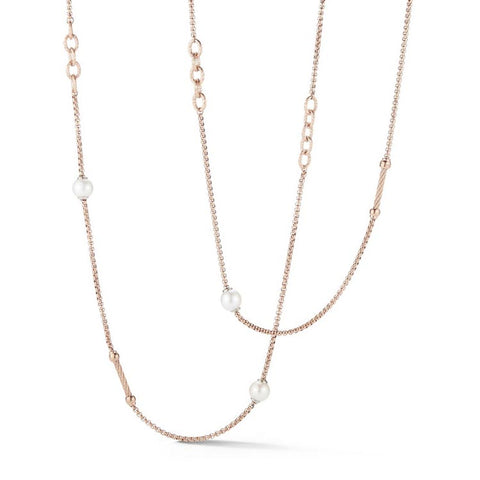"ALOR Classique 36"" Fresh Water Pearls Carnation Chain Necklace 08-25-P064-00"