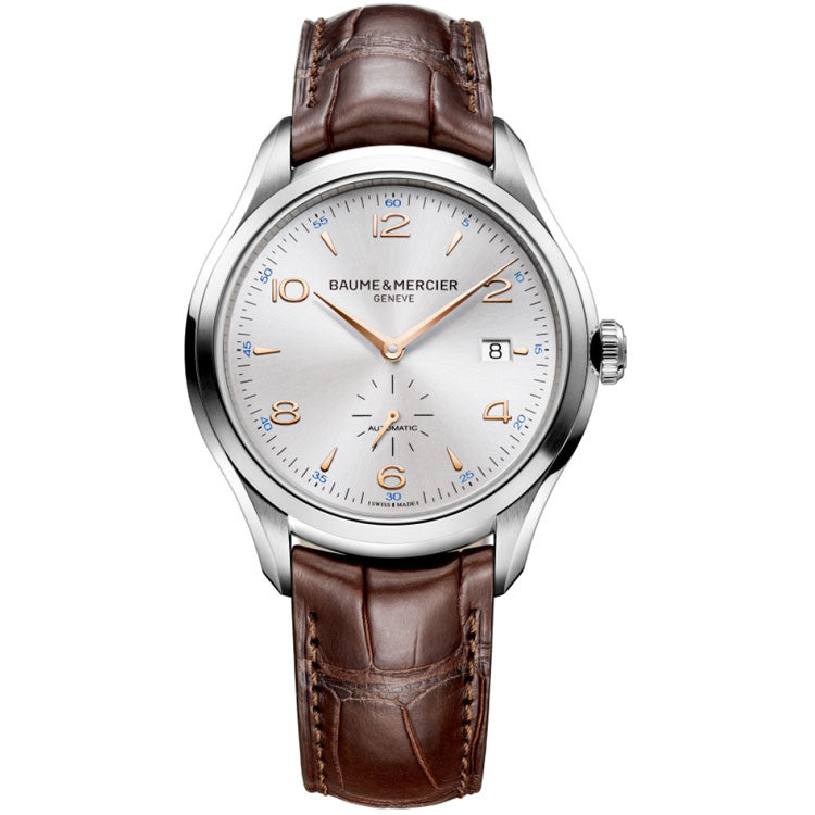 Baume et Mercier Men's Clifton Leather Strap Automatic Watch 10054