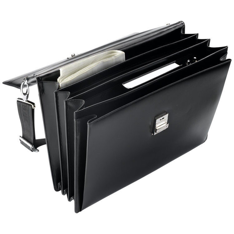 Montblanc Meisterstück Triple Gusset Briefcase with Laptop Holder 104610