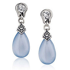 Scott Kay Tear Drop Earring with White Sapphire 1058
