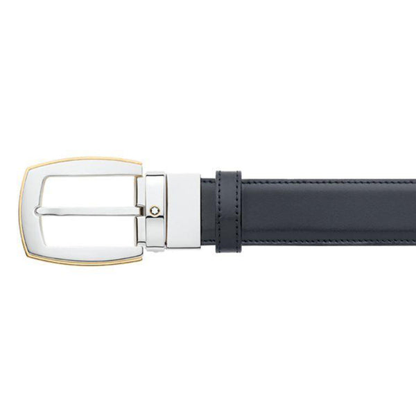 Montblanc Classic Line Gold-Coated Revolving Convex Reversible Belt 111081