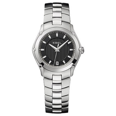 Ebel Classic Sport Lady Black Dial Steel on Steel Watch 1216014