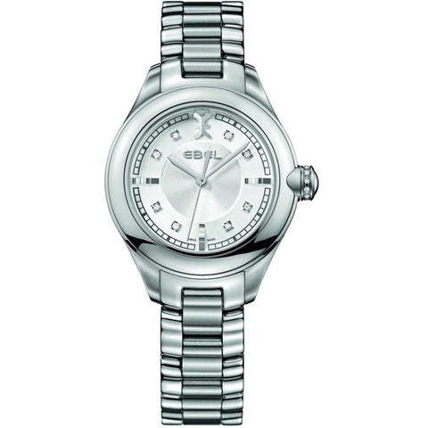 Ebel ONDE Stainless Steel Bracelet Swiss Quartz Women's Watch 1216092