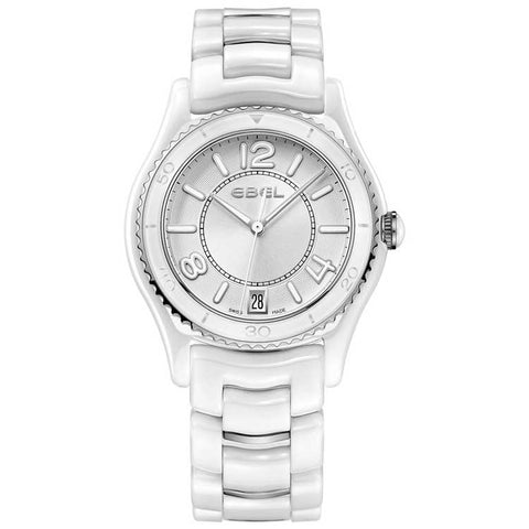 Ebel Ebel X-1 Ceramic & Steel 34mm Swiss Quartz Ladies Watch 1216129