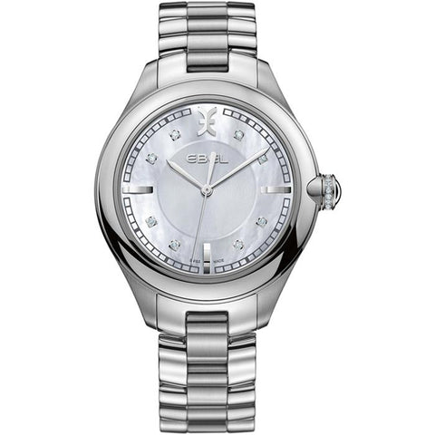 Ebel Women's Swiss Onde MOP Diamond Steel Bracelet Watch 1216136