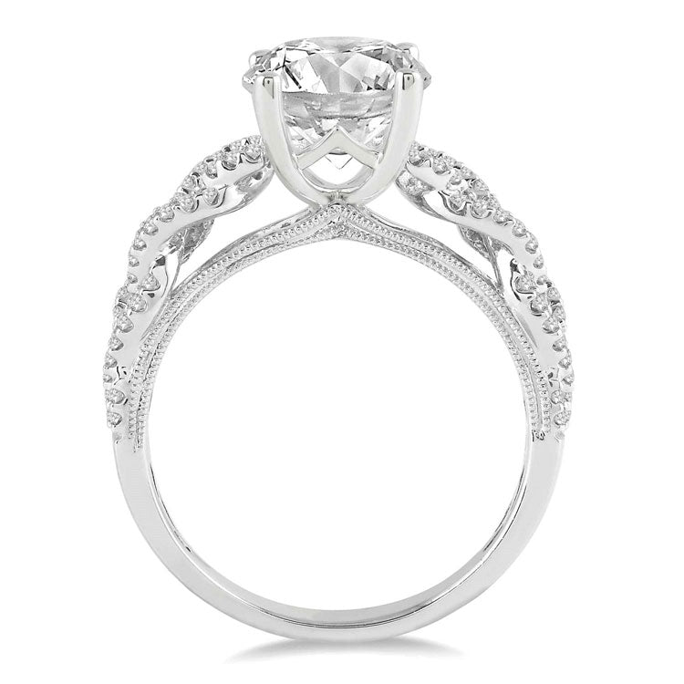 Ashi 14K White Gold Semi-Mount Diamond Ring 18875FRWG-SM