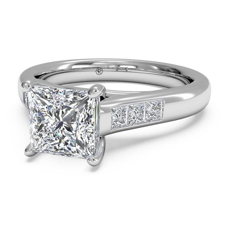 Ritani Solitaire Channel-Set Diamond Band Engagement Ring 1PCZ1193-4539