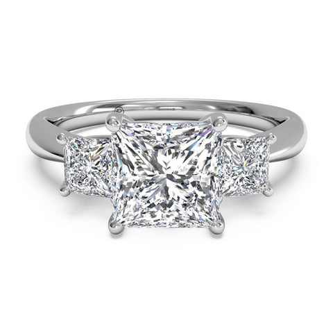 Ritani Three-Stone Diamond Engagement Ring 1PCZ1237P-4541