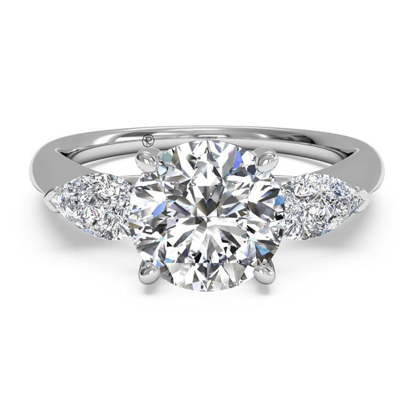 Ritani Modern Three-Stone Diamond Engagement Ring 1RZ1010