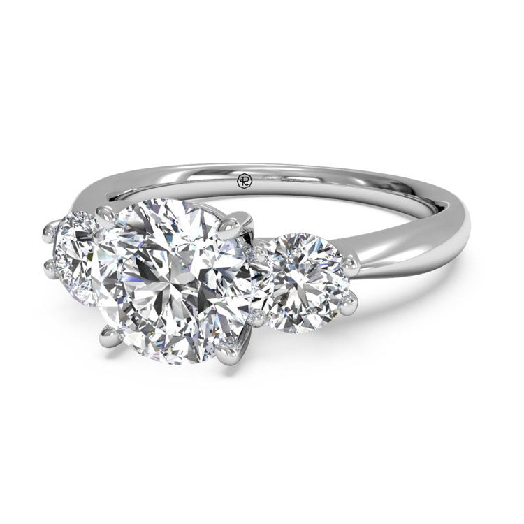 Ritani Three-Stone Diamond Engagement Ring 1RZ1015P-4589