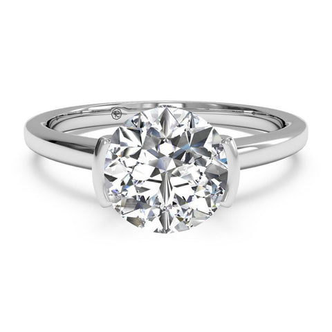 Ritani Modern Solitaire Semi-Bezel-Set Diamond Engagement Ring 1RZ1065-6285