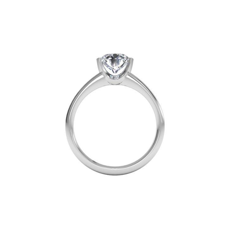 Ritani Solitaire Semi-Bezel-Set Diamond Engagement Ring 1RZ1066-4571