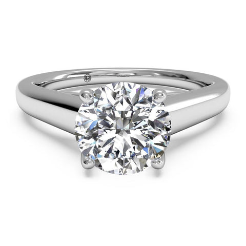 Ritani Solitaire Diamond Tulip Cathedral Engagement Ring 1RZ1178-6322