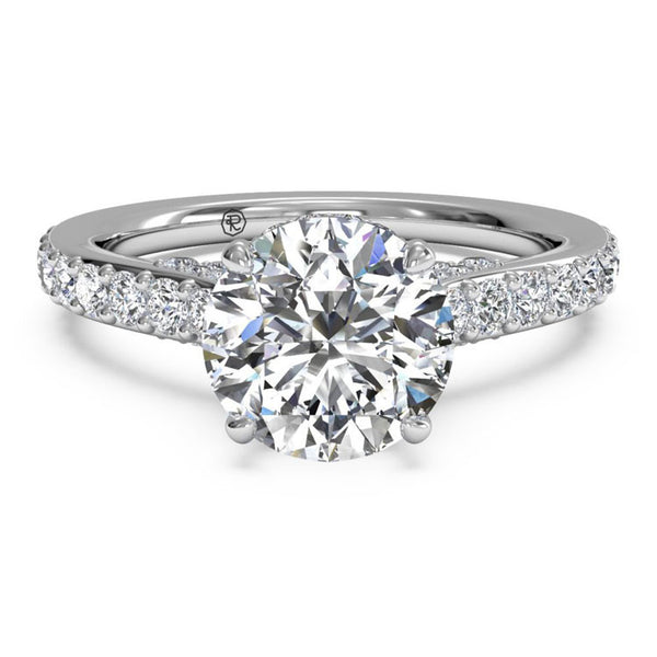 Ritani French-Set Diamond Band Engagement Ring 1RZ1320-4972