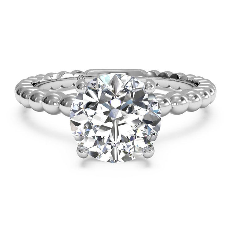 Ritani Solitaire Diamond Beaded Engagement Ring 1RZ1325-4977