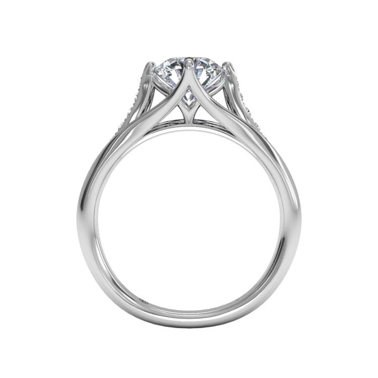 Ritani Vintage Tulip Diamond Band Engagement Ring 1RZ1379-4592