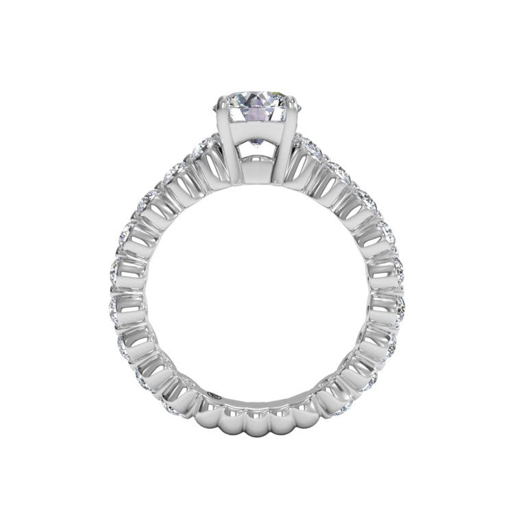 Ritani Shared-Prong Diamond Band Engagement Ring 1RZ1888-4608