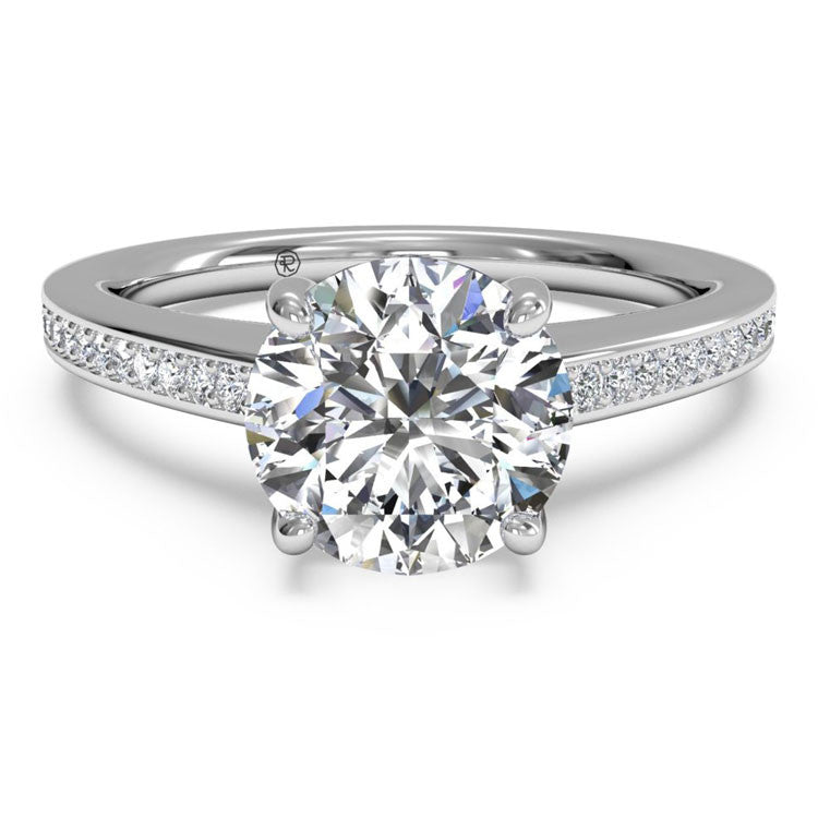 Ritani Diamond Micropavé Band Engagement Ring 1RZ1966-4558