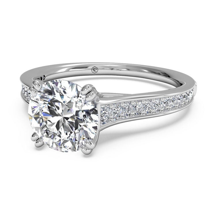 Ritani Micropavé Diamond Band Engagement Ring 1RZ2493-4595