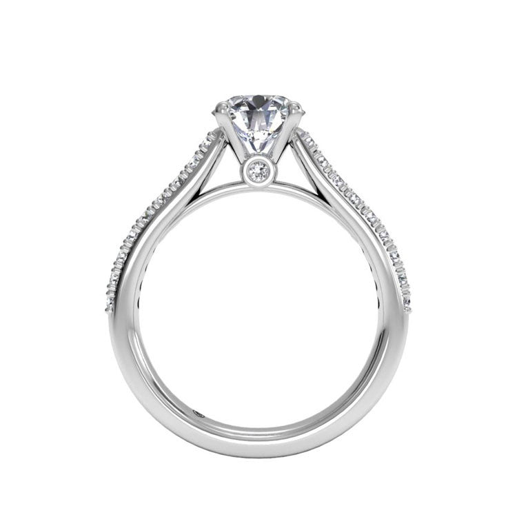 Ritani French-Set Diamond Band Engagement Ring 1RZ2498-4596