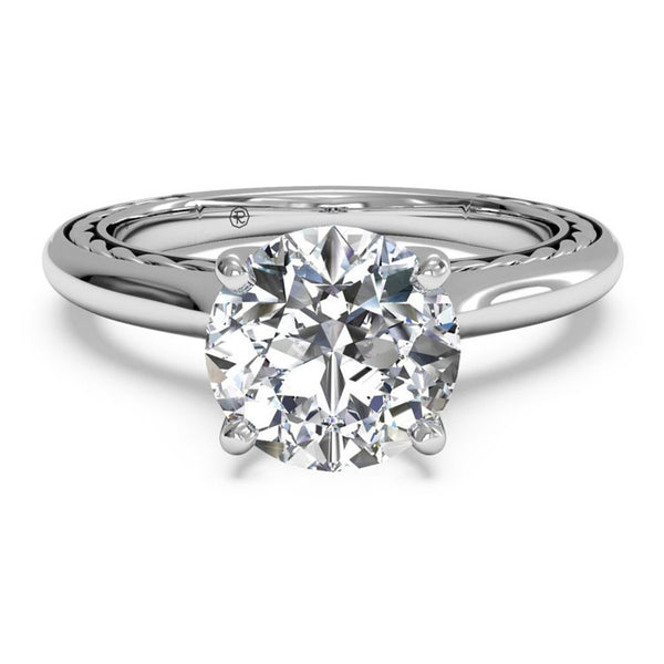 Ritani Solitaire Diamond Braided Engagement Ring 1RZ2828-4997