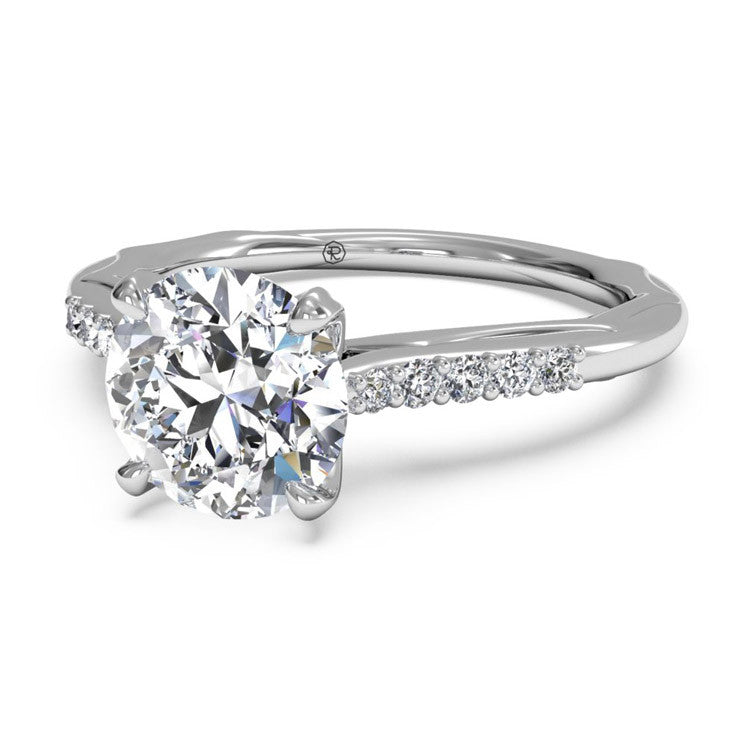 Ritani Solitaire Diamond Modern French-Set Band Engagement Ring 1RZ2841-4600