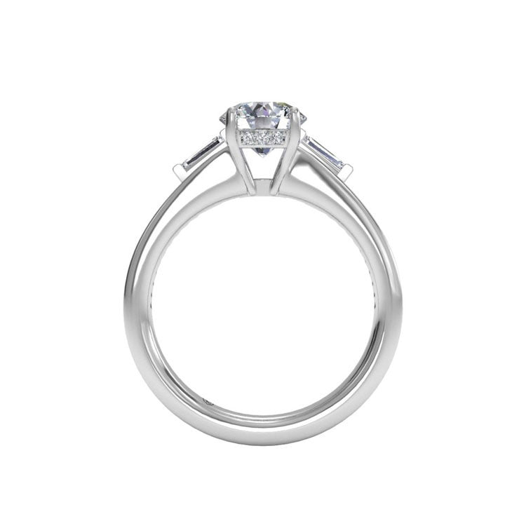 Ritani Tapered Baguette Diamond Band Engagement Ring 1RZ3051-4601