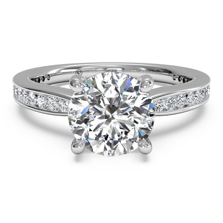 Ritani Tapered Channel-Set Diamond Band Engagement Ring 1RZ3447-4965