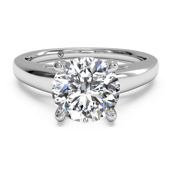 Ritani Solitaire Diamond Cathedral Engagement Ring with Surprise Diamonds 1RZ7234-5664