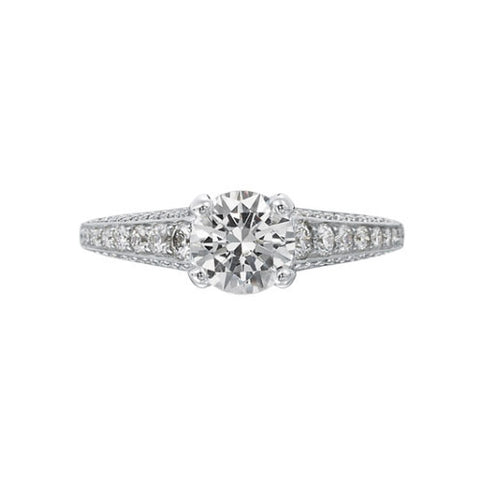 Ritani Modern 18K White Gold Diamond Engagement Ring 1RZ2395