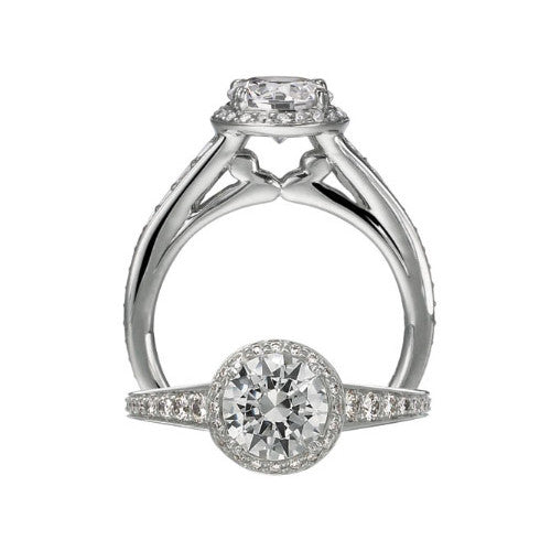 Ritani Modern 18K White Gold Diamond Engagement Ring 1RZ2366