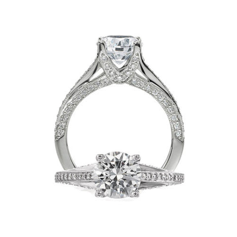 Ritani Classic Round Cut Center Engagement Ring 1RZ3160
