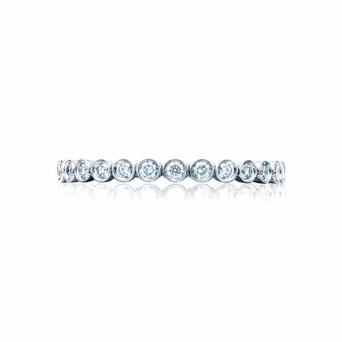Tacori 18K White Gold 1/2 Way Diamond Wedding Band 200-2W