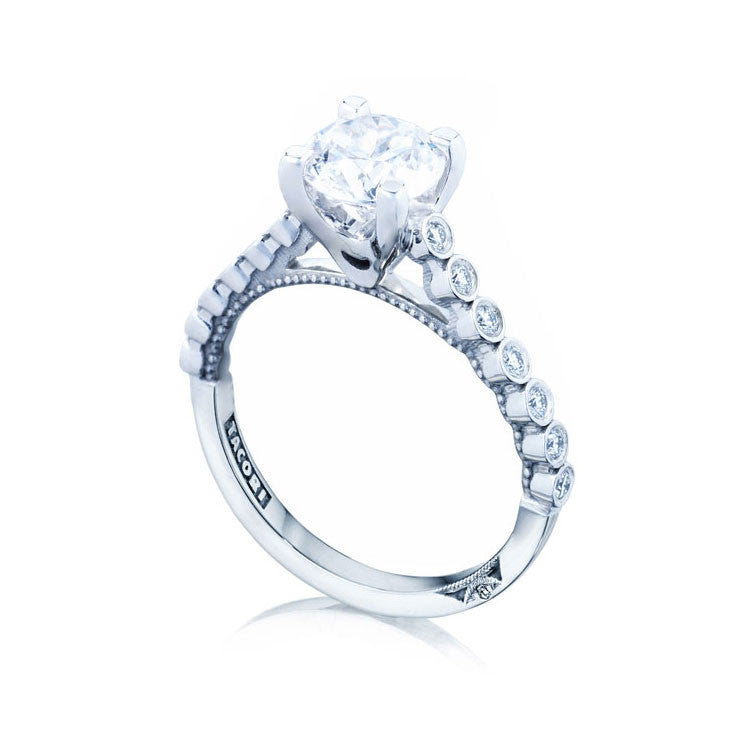 Tacori Sculpted Crescent 1/2 Way Round Center Engagement Ring 200-2RD65W