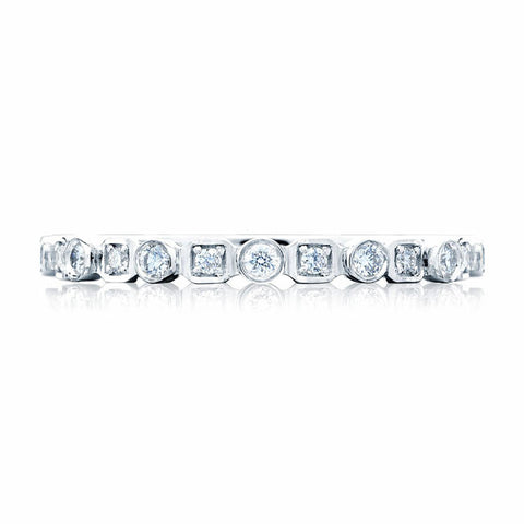 Tacori 18K White Gold 1/2 WAY Diamond Band 201-2W
