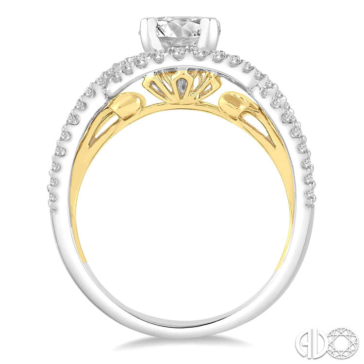 Ashi 14K White and Yellow Gold Diamond Ring 202B3FRWY-SM