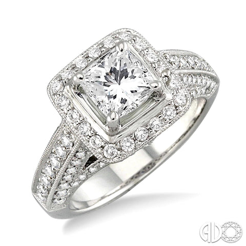 Ashi 14K White Gold Diamond Engagement Ring 21461FRW-SM