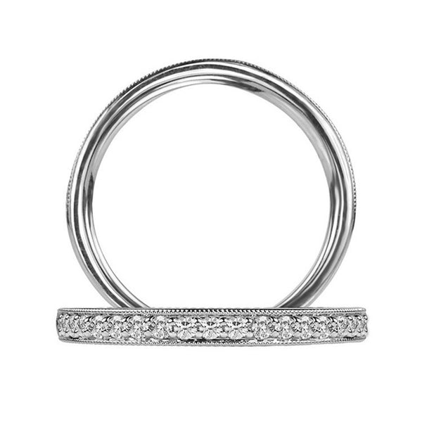 Ritani Women's White Gold Single Row Diamond Wedding Band 21697CRWG