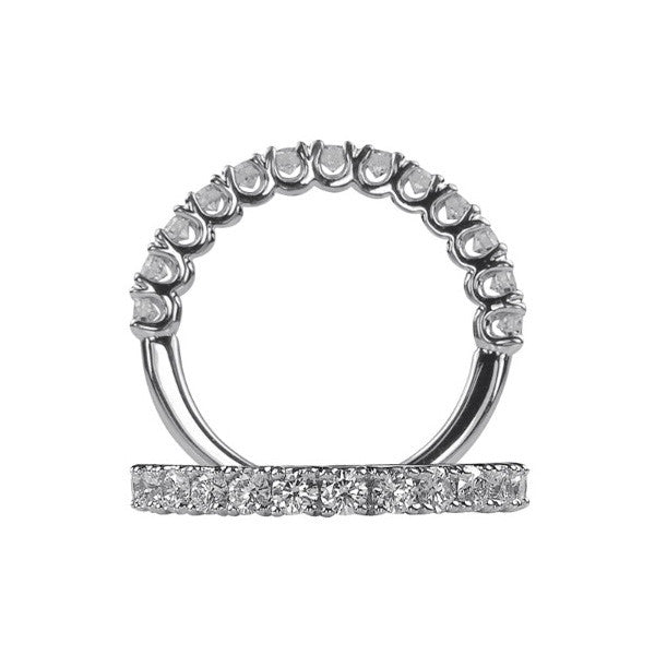 Ritani Shared Prong Round Cut Half Way Diamond Wedding Band 22712ER