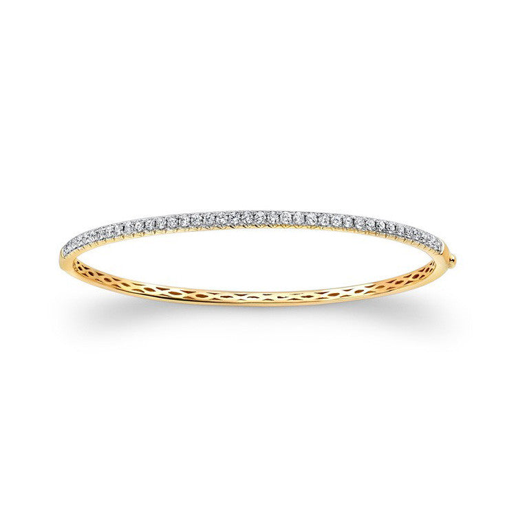 14K White Gold Diamond Bangle Bracelet 24793-W