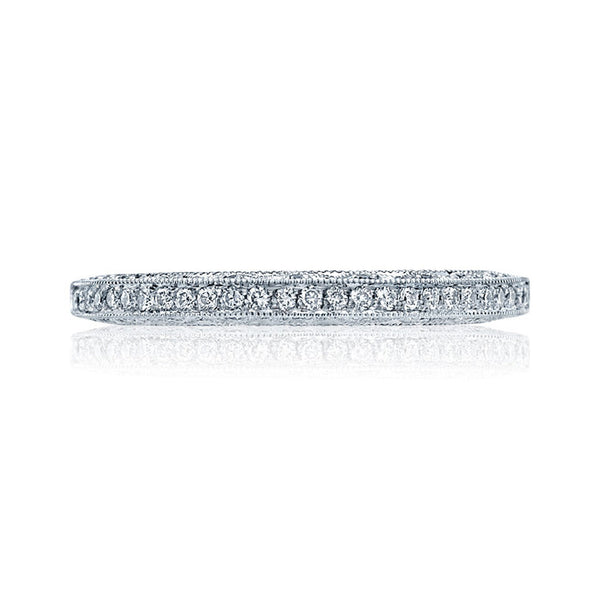 Tacori Women's 18K White Gold Solid Bottom 1/2 WAY Diamond Band 2616B12X