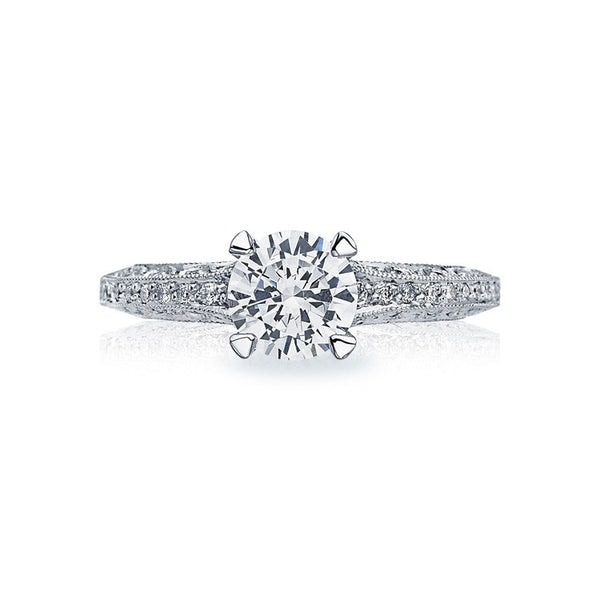 Tacori Classic Crescent Platinum Diamond Engagement Ring 2616RD75