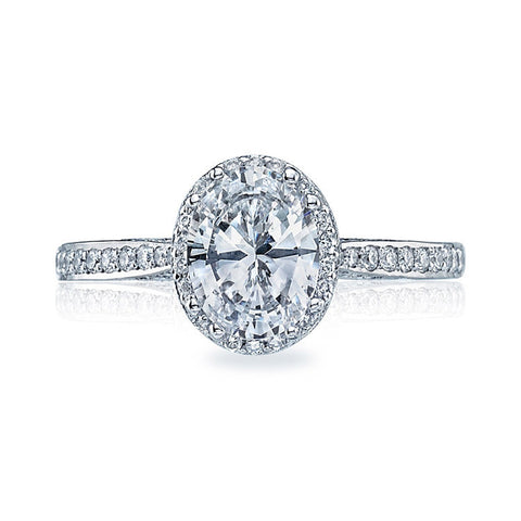 Tacori Platinum Oval Center Engagement Ring 2620OVMDP