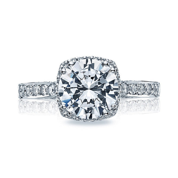 Tacori Platinum Large Pave Diamond Engagement Ring 2620RDLGP