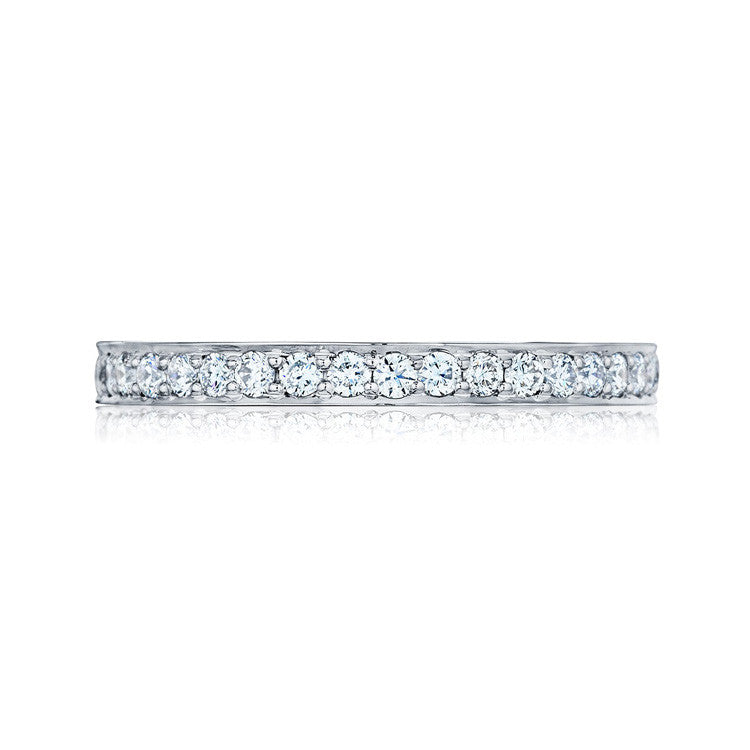 Tacori Dantela Platinum Diamond Eternity Band 2630BLGP