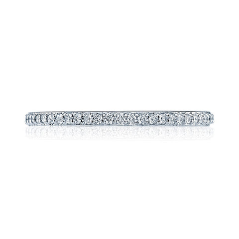 Tacori Dantela Platinum Eternity Diamond Ladies Wedding Band 2630BSM