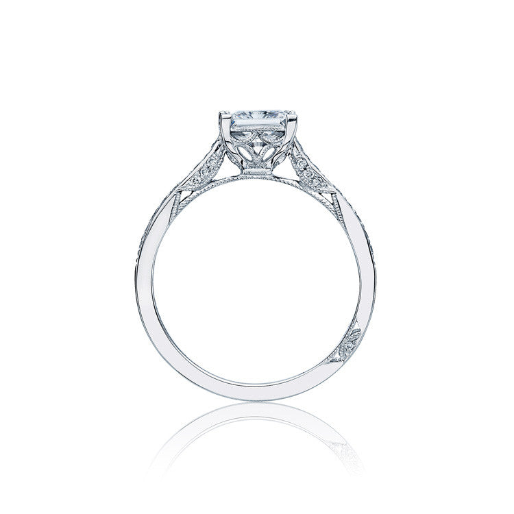 Tacori Dantela 18K White Gold Princess Cut Diamond Ring 2638PRP65W