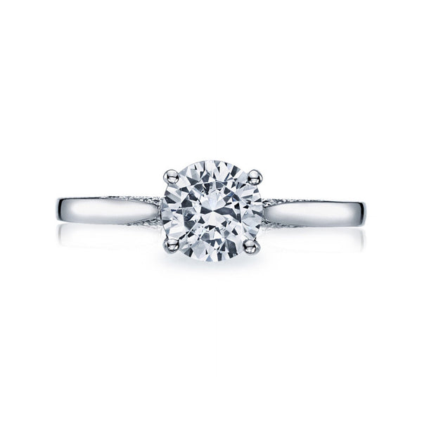 Tacori Platinum Round Solitaire Engagement Ring 2638RD75