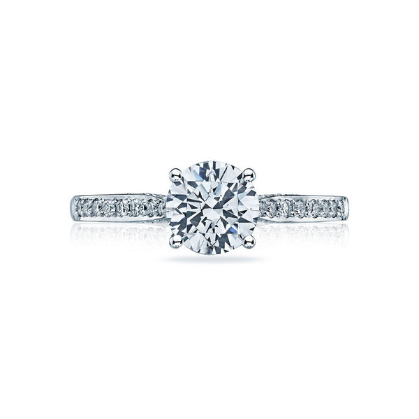 Tacori Platinum Diamond Solitaire Ring 2638rdp75