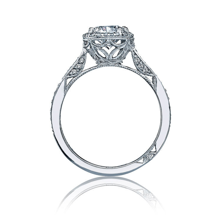 Tacori Platinum Halo Diamond Engagement Ring 2639RDP85